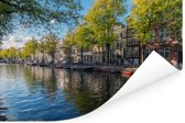 De Prinsengracht in het centrum van Amsterdam Poster 30x20 cm - klein - Foto print op Poster (wanddecoratie woonkamer / slaapkamer)