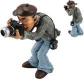 Beroepen beeldje fotograaf met moderne camera Warren Straford