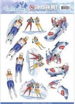 Uitdrukvel  - Jeanine's Art - Wintersports - Biathlon