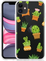 Apple iPhone 11 Hoesje Happy Cactus