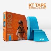 Kinesio Sporttape Kinesiotape KT Tape PRO voorgesneden Blauw Jumbo 39 meter  - Licht blauwe sporttape