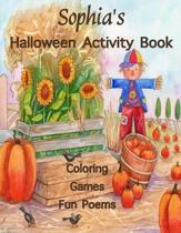 Sophia's Halloween Activity Book