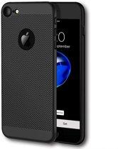 iPhone 7 Hoesje Zwart Mesh Gaatjes Hard Cover Case - Ademend