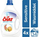 Le Chat Gel Sensitive - Kwartaalverpakking - 136 wasbeurten - Wasmiddel