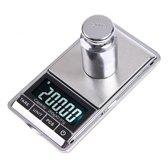 Professionele Digitale Mini Pocket Keuken Precisie Weegschaal - Op Batterij - 0,01 MG tot 200 Gram- Ultra Nauwkeurige Zakweegschaal - LCD Display
