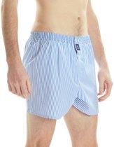 McAlson Boxershort Lichtblauw Fijn Gestreept Lange Pijpen Los Model - XL