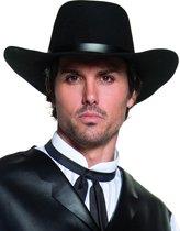 Zwarte luxe cowboyhoed voor volwassenen - Verkleedhoofddeksel - One size