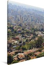 Zicht op het zuiden van Belo Horizonte in Brazilië Canvas 60x90 cm - Foto print op Canvas schilderij (Wanddecoratie woonkamer / slaapkamer)