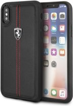 Ferrari Zwart Heritage Vertical Stripe Hard Case iPhone X / Xs
