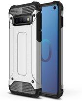 Samsung Galaxy S10 - Sterke Armor-Case Bescherm-Cover Hoes - Zilver