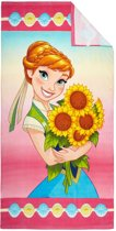 Disney Frozen Anna Sunflowers - Strandlaken  - 70 x 140 cm - Multi