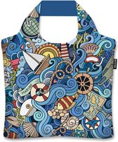 Ecozz-Shopper-Maritime-Olga Kotenko-rPet tas opvouwbaar met rits