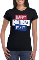 Toppers - Zwart Toppers Happy Birthday party dames t-shirt officieel XS