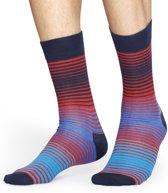 Happy Socks sokken Stripe blauw rood Unisex - Maat 41-46