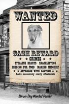 Borzoi Dog Wanted Poster
