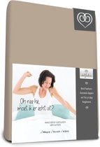 Bed-Fashion Mako Jersey hoeslakens de luxe 90 x 220 cm taupe