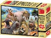 Philos 3D Puzzel Afrika Selfie - 61 x 46 cm - 500 stukjes