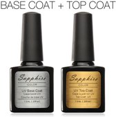 Premium Top Coat & Base Coat Gel Nagellak / UV Gellak Set