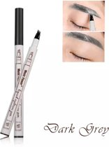 Dermarolling Waterproof Liquid Eyebrow Pen 03 Dark Grey