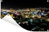 Nachtelijke skyline van Tabriz in noordwest Iran Tuinposter 120x80 cm - Tuindoek / Buitencanvas / Schilderijen voor buiten (tuin decoratie)