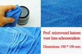 3 stuk Prof. microvezel katoen voor lens schoonmaken