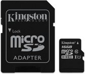 Kingston Technology microSDHC Class 10 UHS-I Card 16 GB  flashgeheugen + SD Adapter