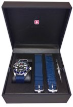 Swiss Military Hanowa 06-8279.04.007.03SET quartz  blauw - nato band 10 ATM (zwemmen)