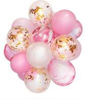 20 Confetti Ballonnen roze | Ideaal voor baby shower of verjaardag