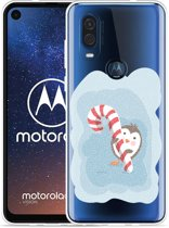 Motorola One Vision Hoesje Candy Pinquin