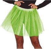 Petticoat/tutu rokje lime groen 40 cm voor dames - Tule onderrokjes limegroen S-M-L