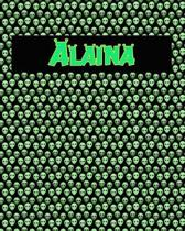 120 Page Handwriting Practice Book with Green Alien Cover Alaina