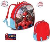 Spiderman rugzak 32 cm met 1 groot vak en een drinkbekerhouder