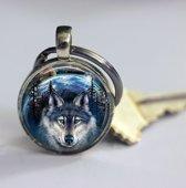 Wolf sleutelhanger outdoor uniek geschenk