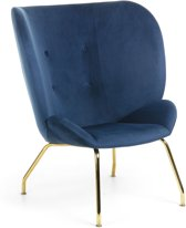 Kave Home - Fauteuil Violet blauw