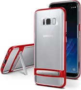 Samsung Galaxy S10 bumper - Goospery Dream Stand Bumper Case - Rood
