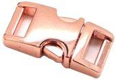 Paracord  metalen buckle / sluiting - Rose Gold - 40mm- 3 stuks