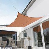 Rechthoek Terracotta Geweven Schaduwdoek  4,0mx3,0m Kookaburra (Waterdicht Zonnezeil)