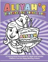 Aliyah's Birthday Coloring Book Kids Personalized Books