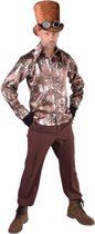 Steampunk Kostuum | Industrieel Glimmende Steampunk Blouse Man | Large | Carnaval kostuum | Verkleedkleding