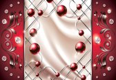 Fotobehang Red Diamond Abstract Modern | M - 104cm x 70.5cm | 130g/m2 Vlies
