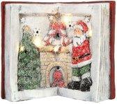 Kerst- Boek - Led - Verlichting - L 17 cm x B 16 cm x H 20.8 cm