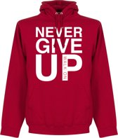 Never Give Up Liverpool Hoodie - Rood - L