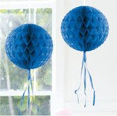 Decoratie bol blauw 30 cm
