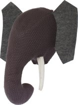 Riverdale - Dierenkop Elephant - 38cm - grijs
