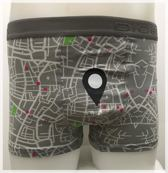 DICE Underwear Heren Boxer all over print Maps, grijs maat L