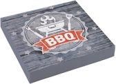 Servetten BBQ grijs (20 stuks)