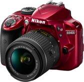 Nikon D3400 + AF-P 18-55 VR - Rood