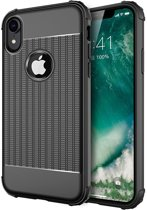 iPhone X / Xs Hoesje Cube Armor Back Cover Zwart - Shockproof Case