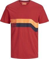 JACK&JONES JUNIOR Jongens T-shirt - Chinese Red - Maat 152