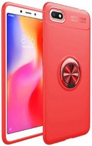 Teleplus Huawei Y5 2018 Ravel Ring Silicone Case Red + Nano Screen Protector hoesje